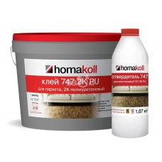 Полиуретановый клей Homakoll для паркета (*, PU 747, 800-1400 г/м2, двухкомпонентный, срок хранения 12 мес, морозостойкий) 7л/ комп. А + Комп В