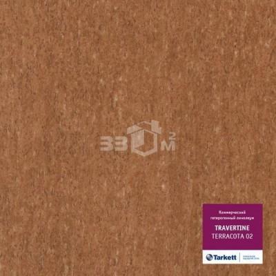 Коммерческий линолеум Tarkett TRAVERTINE TERRACOTTA 02
