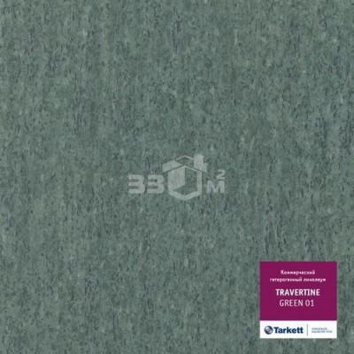 Коммерческий линолеум Tarkett TRAVERTINE GREEN 01