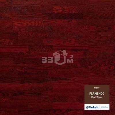 Паркетная доска Tarkett FLAMENCO 3-х полосная Red River (Красный), PL